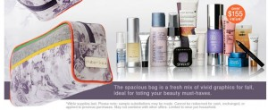 Peter Som Cosmetics Bag with Deluxe Sized Samples at Beauty.com