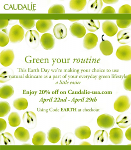 Caudalie 20 Percent off for Earth Day