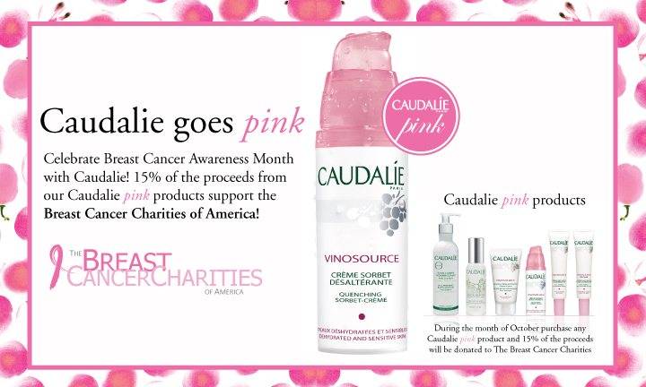 Caudalie Goes Pink for Breast Cancer Charities