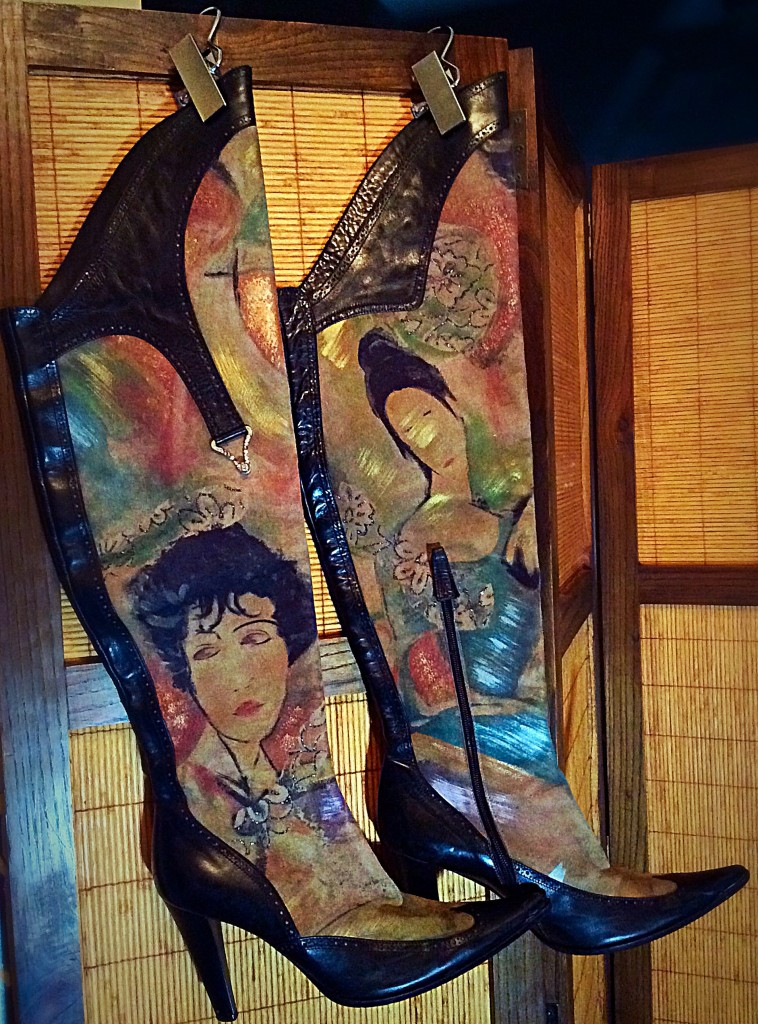 My hand painted Boots hung with Hanger Clips