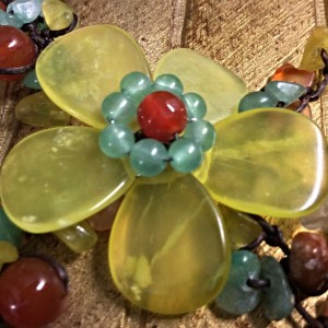 NOVICA Multi-Gemstone Y-Necklace 'Dazzling Flower Bloom' Centerpiece