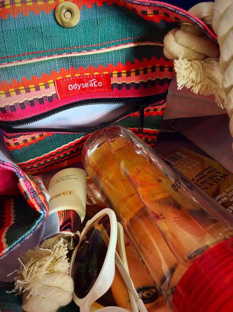 Odyseaco Large Baja Beach Bag Waterproof Canvas Tote