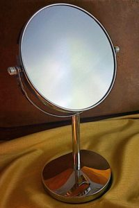Oak Leaf Two-sided Tabletop Swivel Makeup Mirror