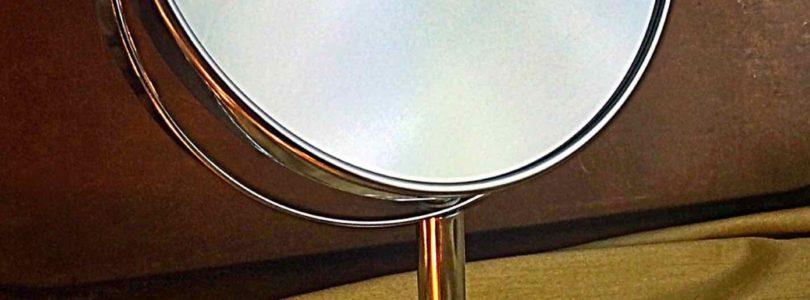 Oak Leaf Two-sided Tabletop Swivel Makeup Mirror