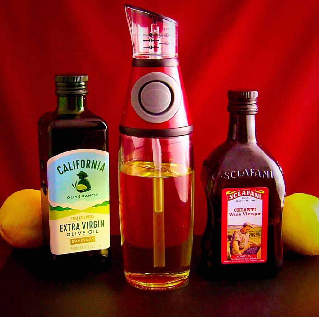 Domestic Corner Precision No Drip Oil and Vinegar Infuser and Dispenser