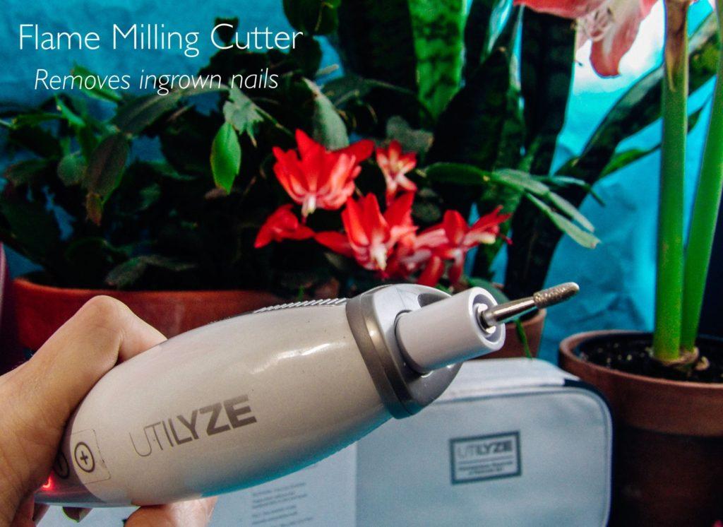 Utilize 10-in-1 Professional Manicure & Pedicure Set Sapphire Callus Sander Felt Polishing Cone Flame Milling Cutter