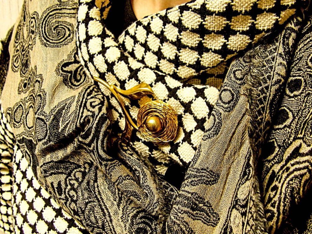 Jewel Silk Scarves Jamevar Black Wool Scarf
