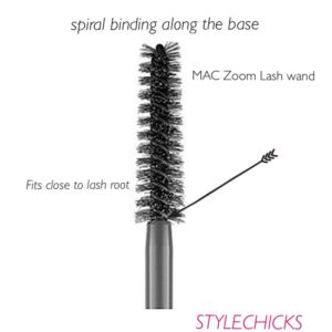 MAC ZOOM LASH mascara brush features