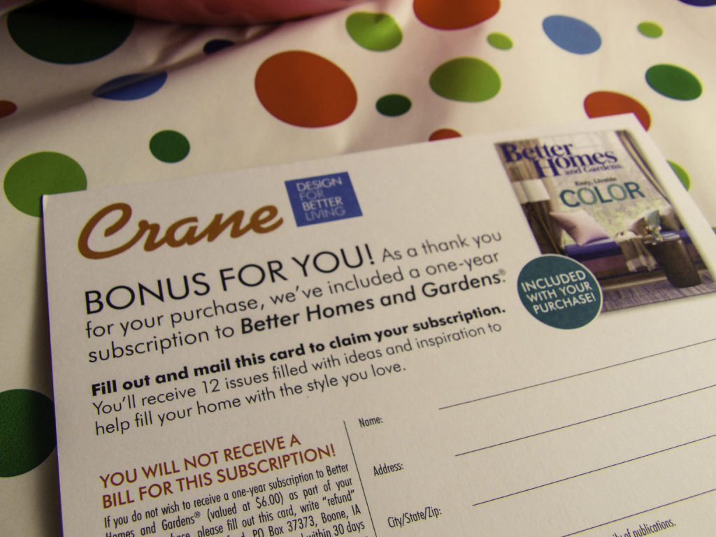 Bonus Better Homes & Gardens 12 Issue Subscription with purchase