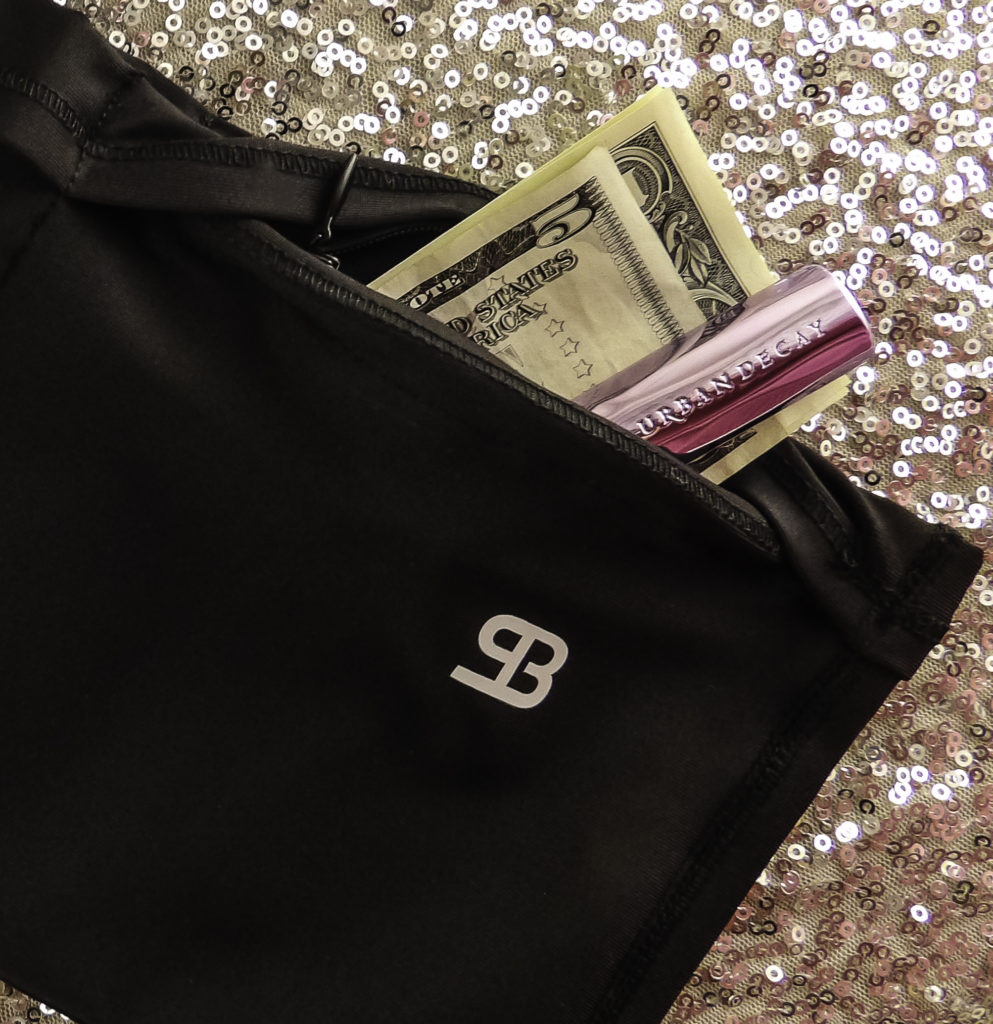 StashBANDZ concealed zipper pocket holds valuables and cash safely