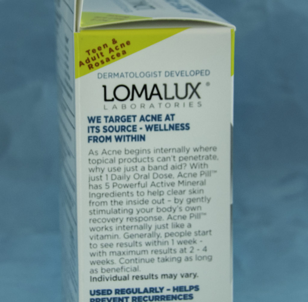 About LomaLux Acne Pills