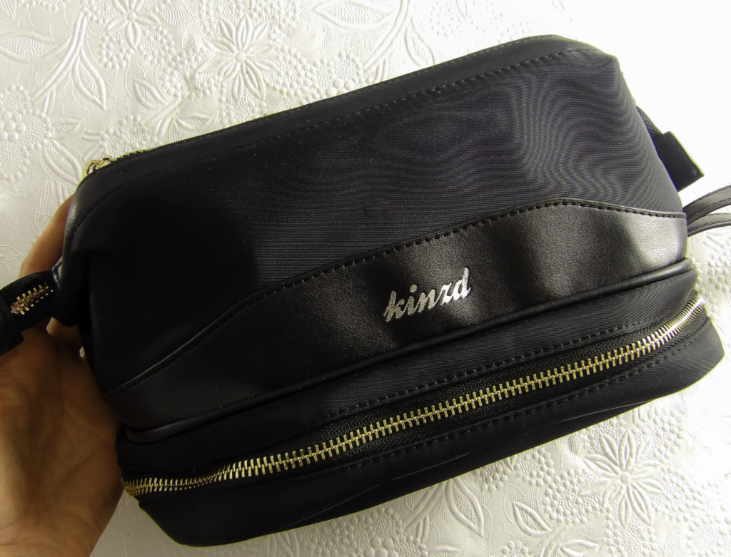 The Kinzd Travel Makeup Case holds makeup and beauty products securely