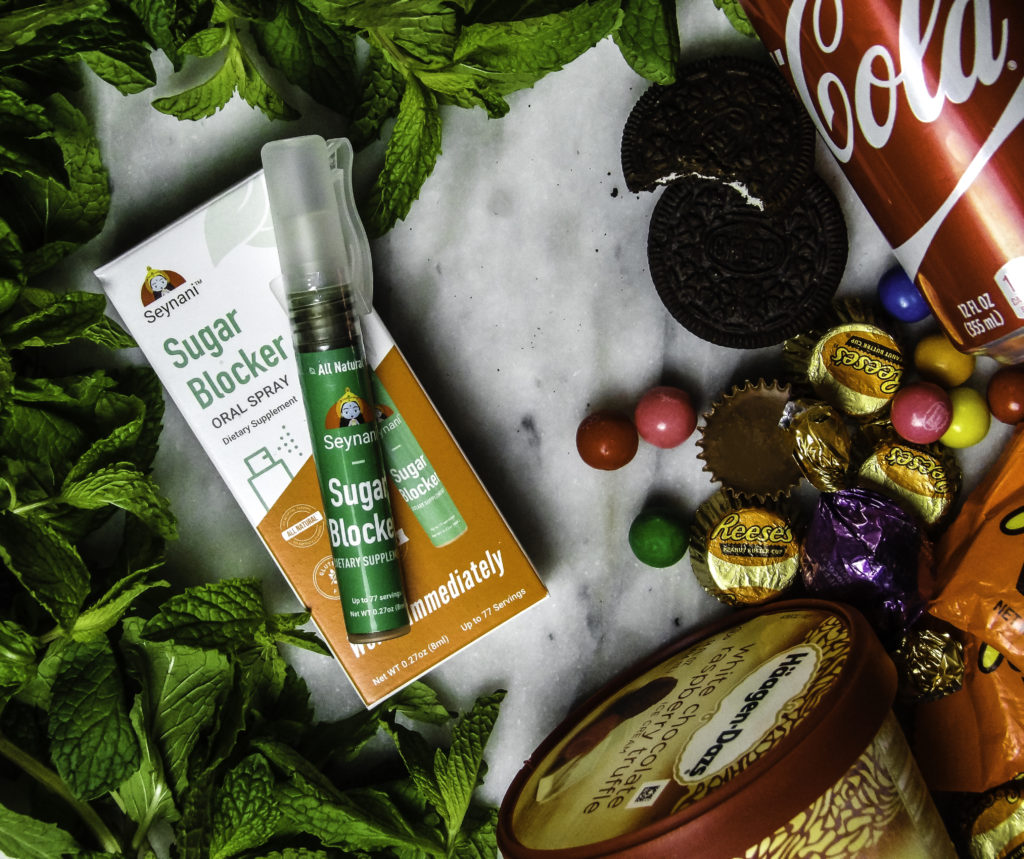 Seynani's Sugar Blocker impairs sugar taste buds from tasting sweetness on all kinds of sugary snacks