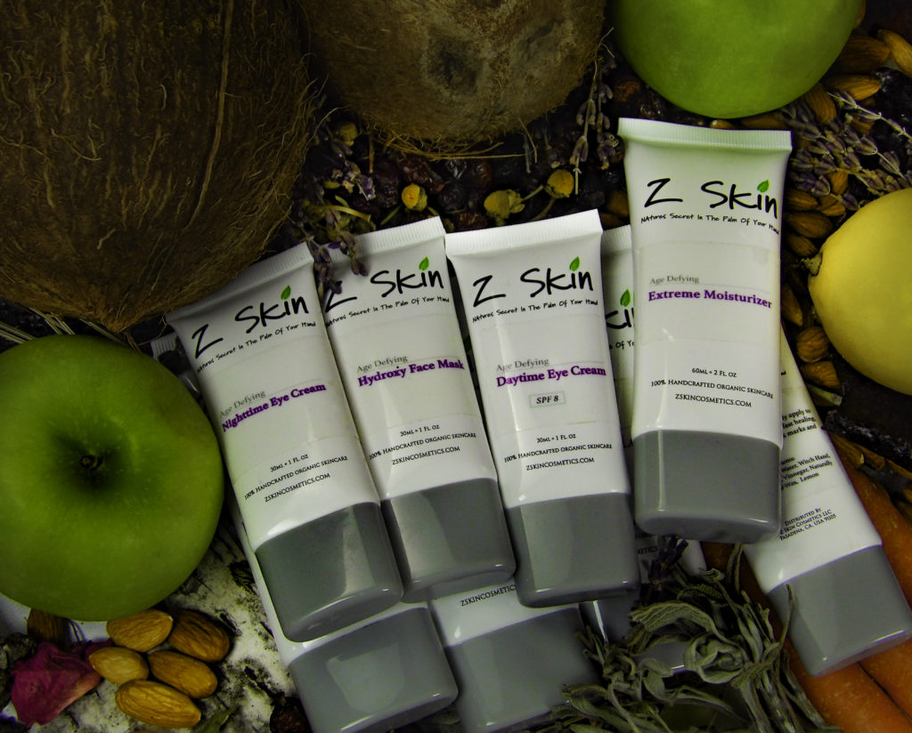 Z Skin is all natural, organic ingredients, including ancient beauty remedies and state of the art new organic discoveries