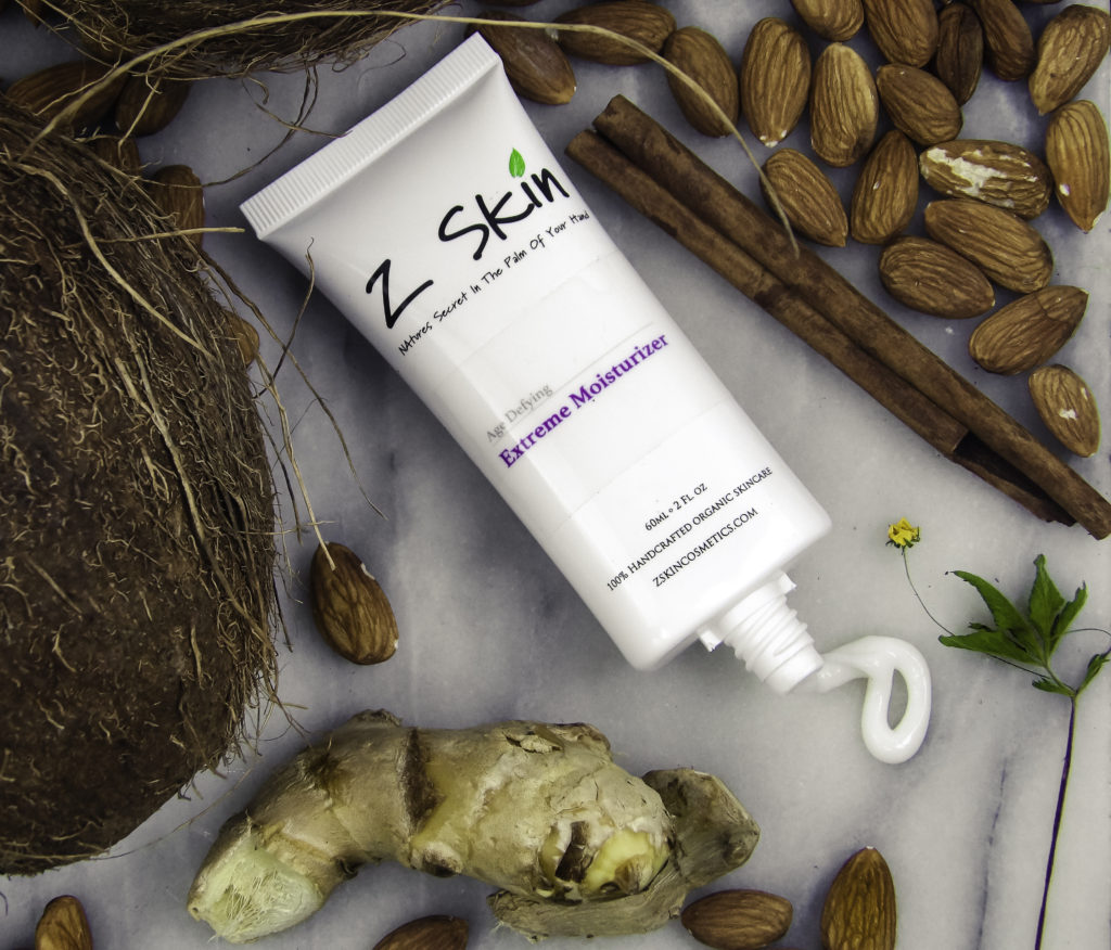 Extreme Moisturizer contains nourishing Almond, Coconut, Cinnamon, Ginger and other organic moisturizers