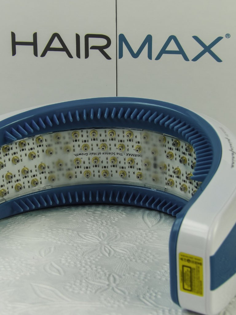 Hairmax curved design is comfortable, lightweight and ensures even coverage