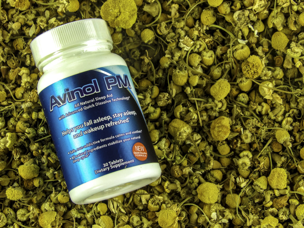 Avinol PM contains relaxing Camomile to promote restful sleep