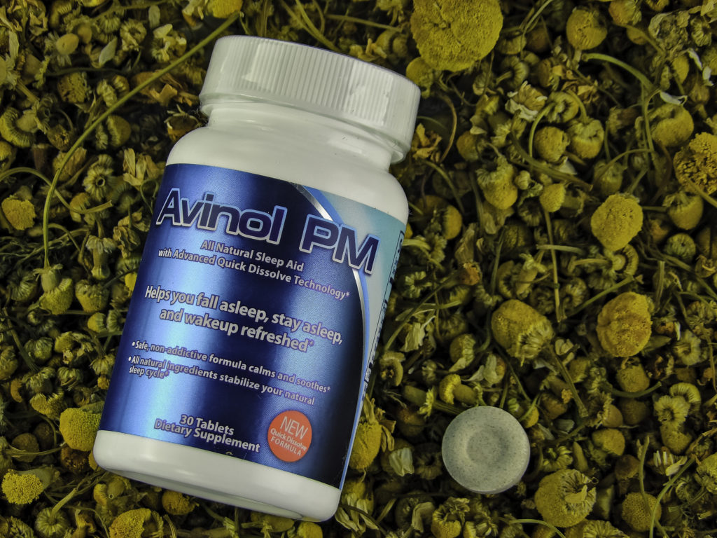 Avinol PM is made of all-natural ingredients, like Chamomile