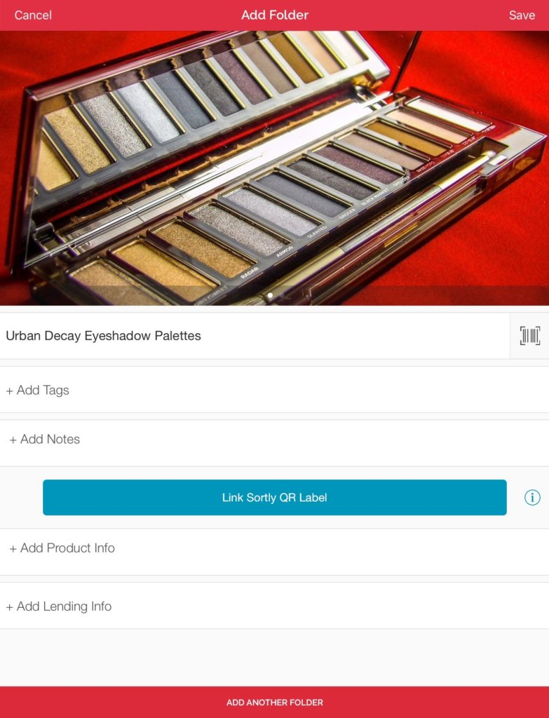Organize your makeup collection into easy to browse folders, like Urban Decay Eyeshadow Palettes