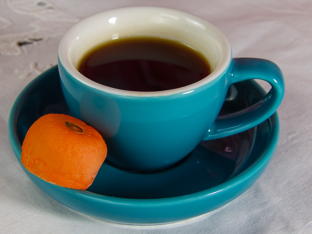 A sweet marzipan treat with an afternoon espresso