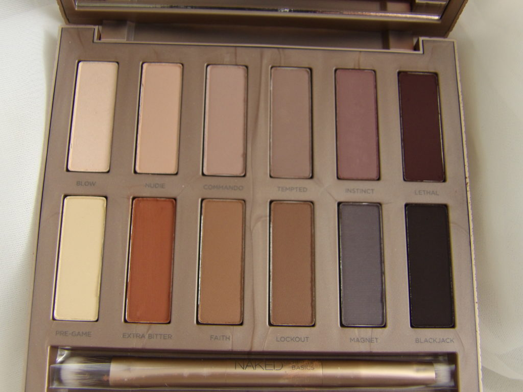 The colors in the UD Naked Ultimate Basics Palette