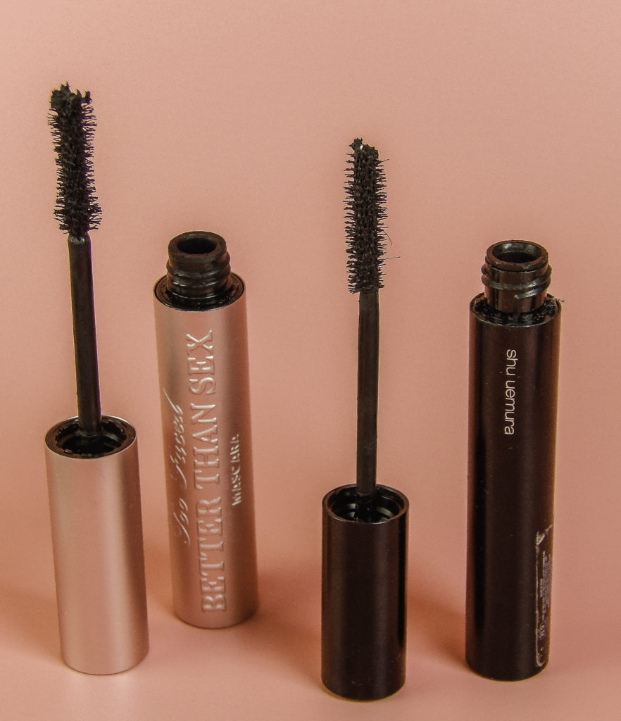 Too Faced Better Than Sex Mascara has a thick brush with an hourglass shape