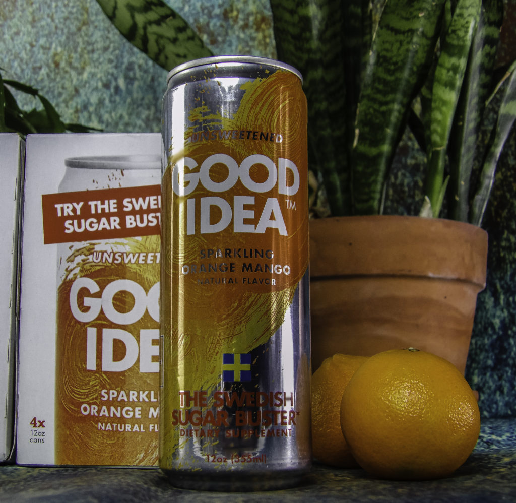 Good Idea is a Sugar Buster Dietary Supplement that tastes like flavored sparkling water
