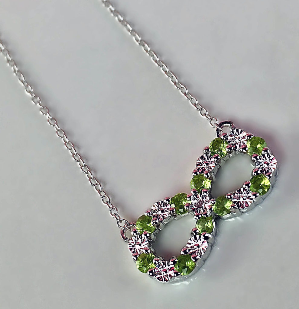 Jewelry for spring gem stone king peridot diamond sterling silver about the gem stone king infinity necklace aloadofball Gallery