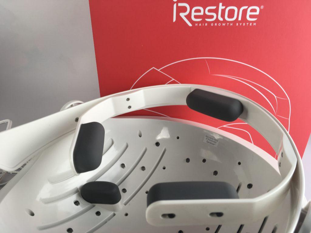 The inside of the iRestore Helmet dome headband