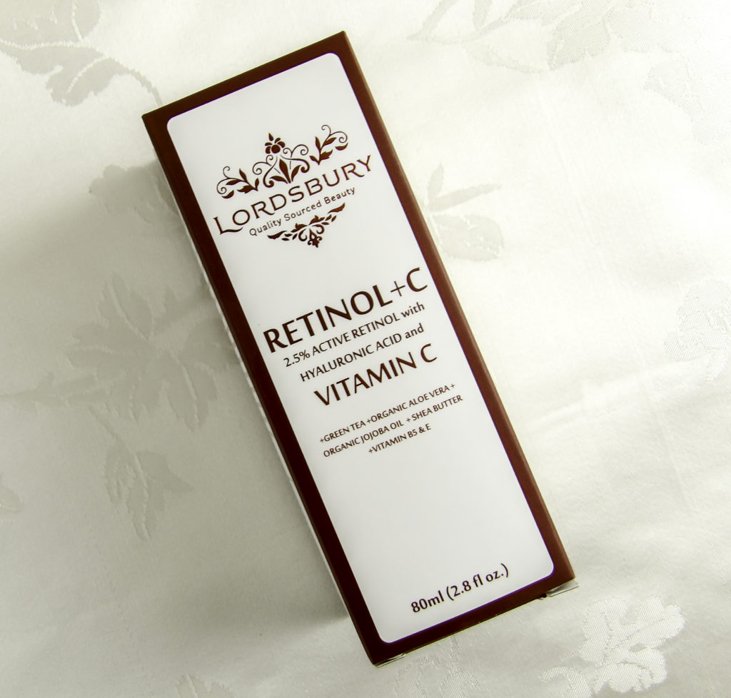 Lordsbury Retinol+C Moisturizing Cream comes in a generous 2.8 ounce bottle