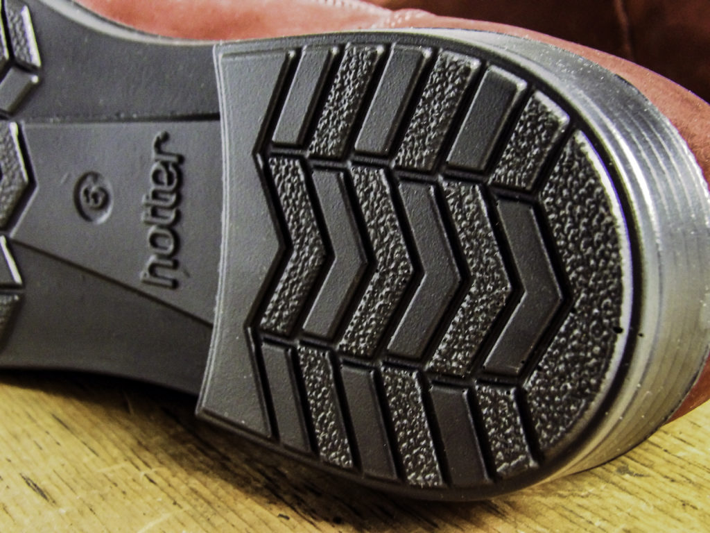 Close up of York Hotter one-inch heel tread