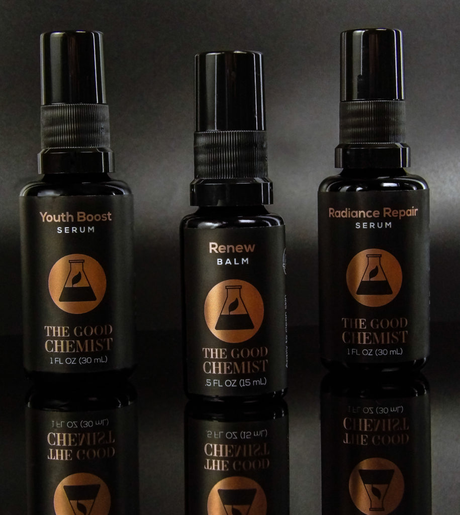The Good Chemist Trio addresses signs of aging for face and eyes. We love the Youth Boost