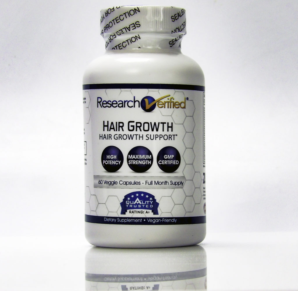 Verified Research Hair Growth contains 21 vitamins and minerals proven to grow hair
