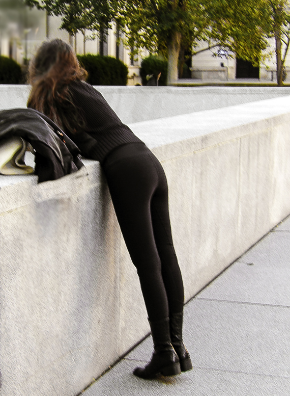 These leggings are not see-through even when bending over in bright daylight