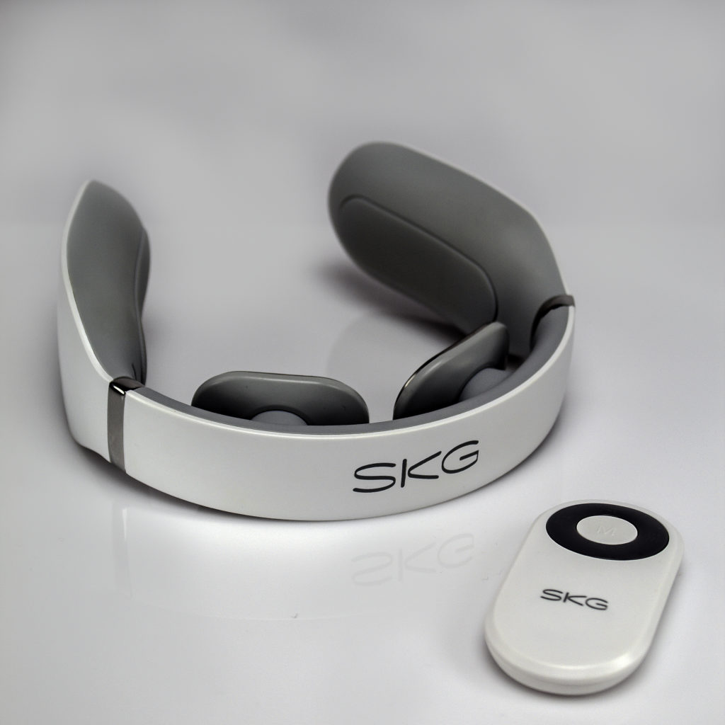 SKG Neck Massager operates with the touch of a button