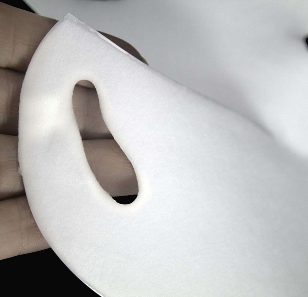 Peel away the paper backing to expose the collagen gel surface