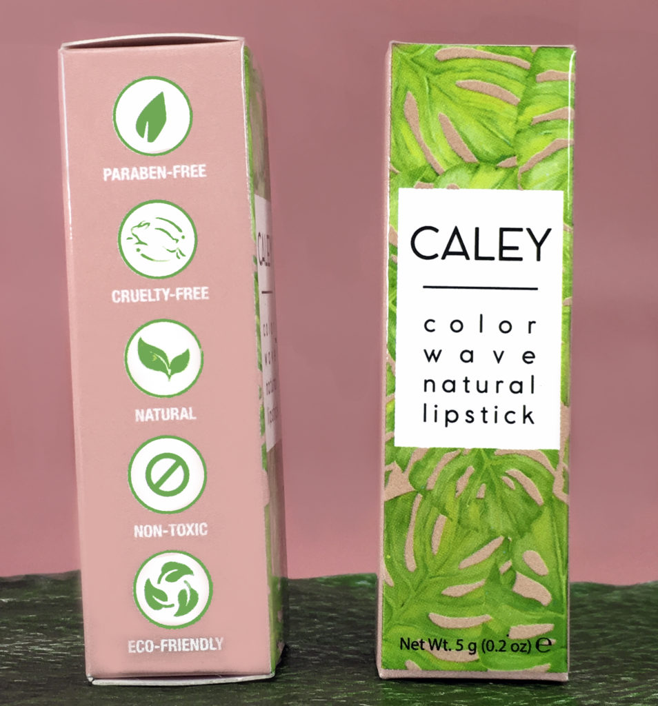 Caley Color Wave Natural Lipstick is paraben-free, cruelty-free, natural, non-toxic, and eco-friendly