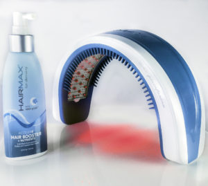 The light-activated serum works with the HairMax device
