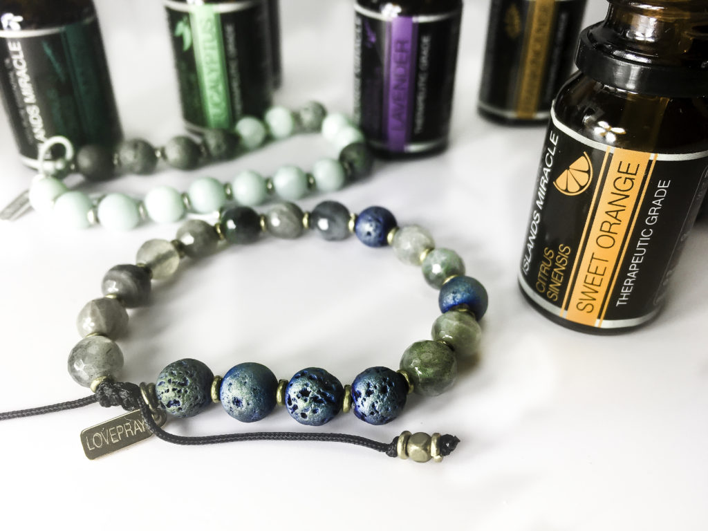 Apply the Essential oil of your choice to the lava beads