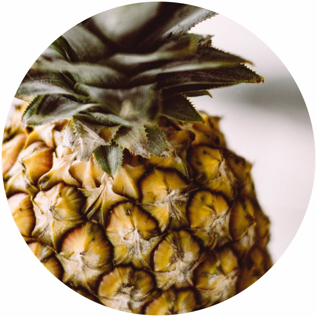 Pineapple extract is a natural exfoliator