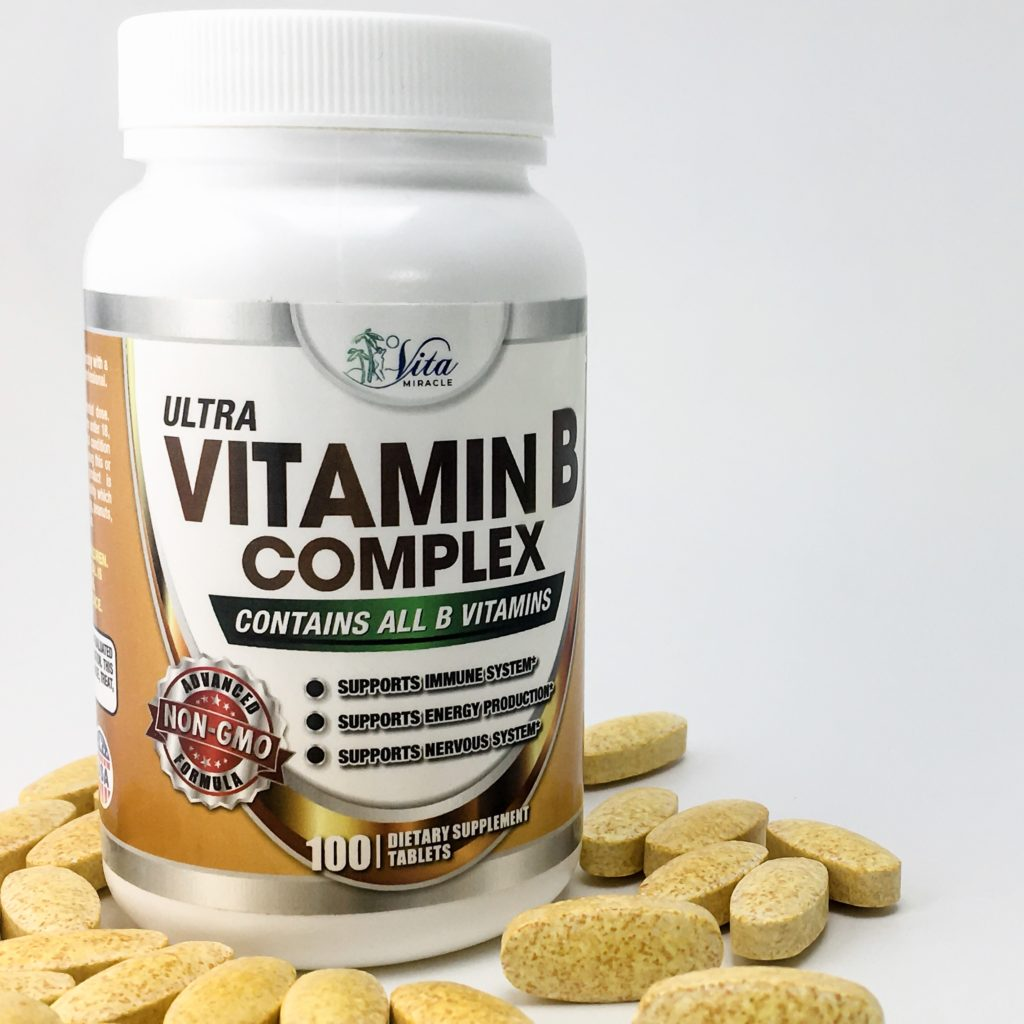 Vita Miracle Ultra Vitamin B Complex is a non-GMO, all-natural, vegan formulation