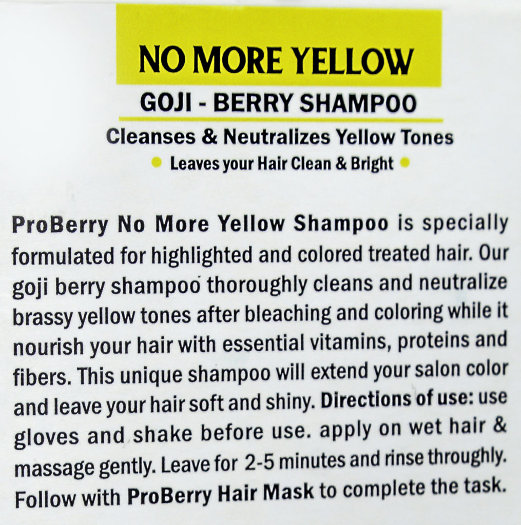 Just two to five minutes is enough to remove the yellow brassy tones!