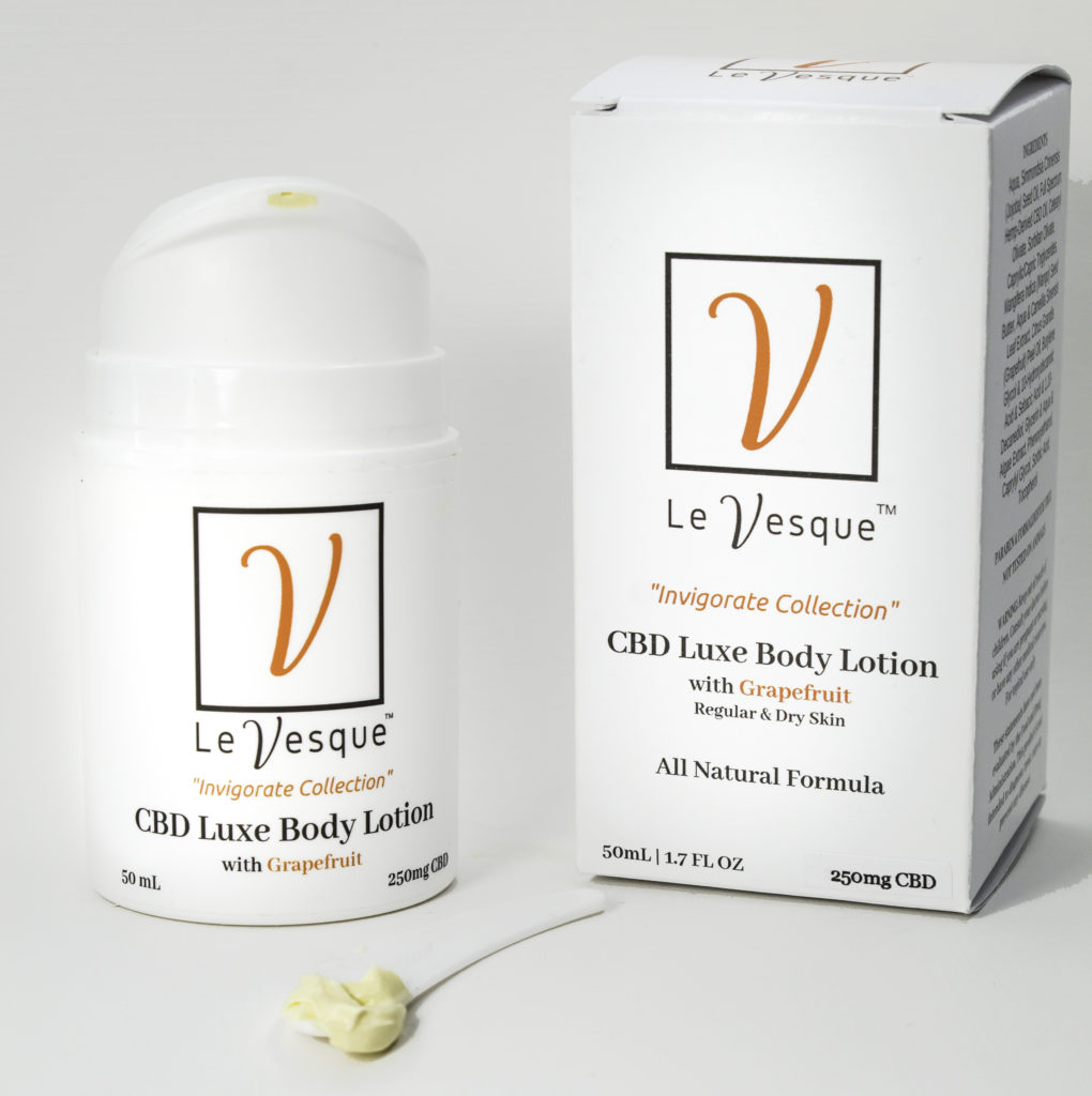 Le Vesque CBD Luxe Body Lotion:  the lotion that behaves like a luxe beauty serum