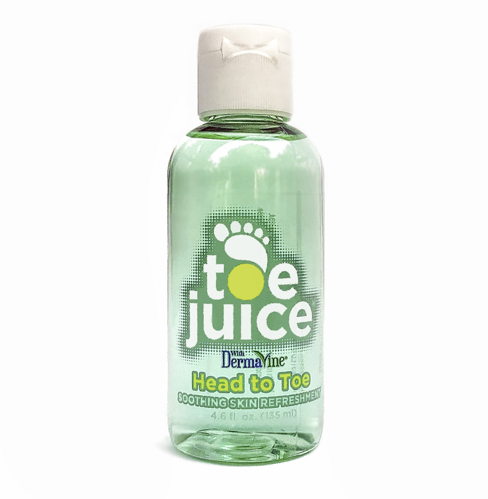 Toe Juice is a natural formulation to heal skin head to toe