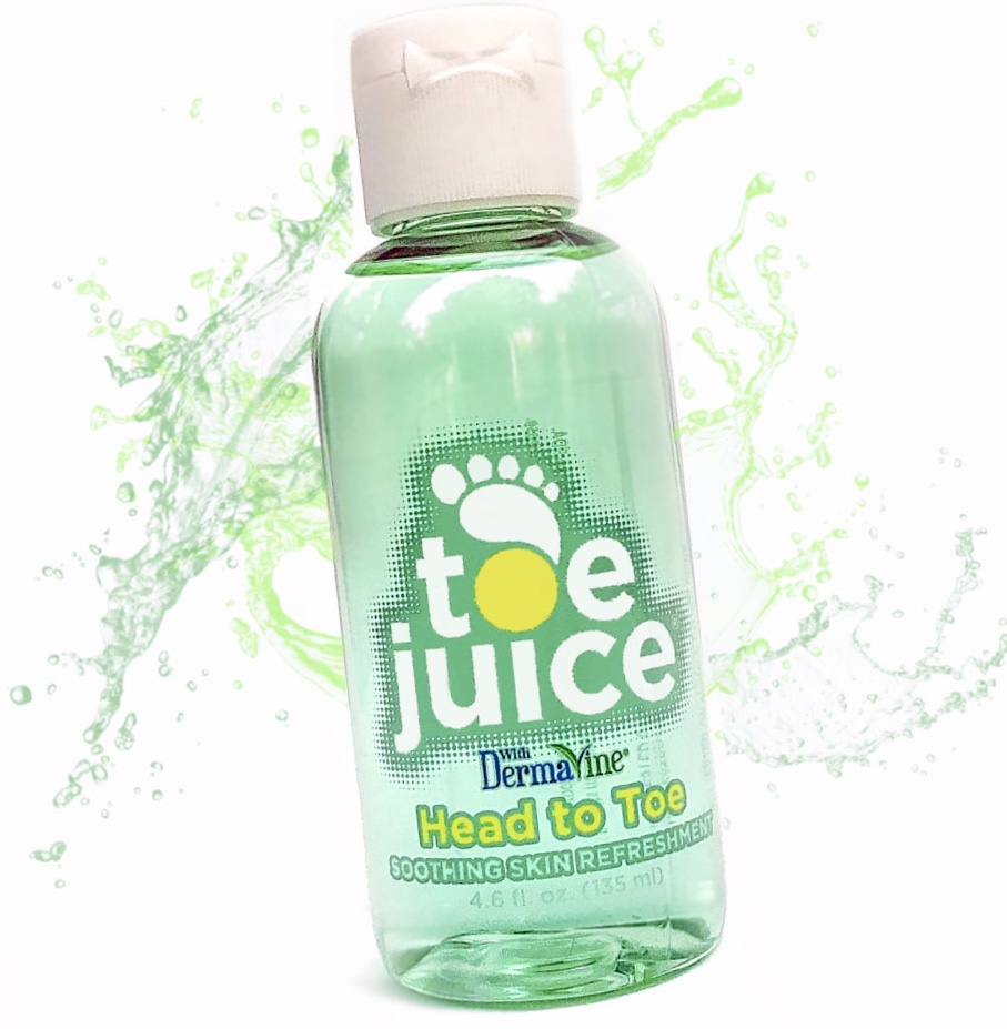 Toe Juice hydrates and treats dry skin
