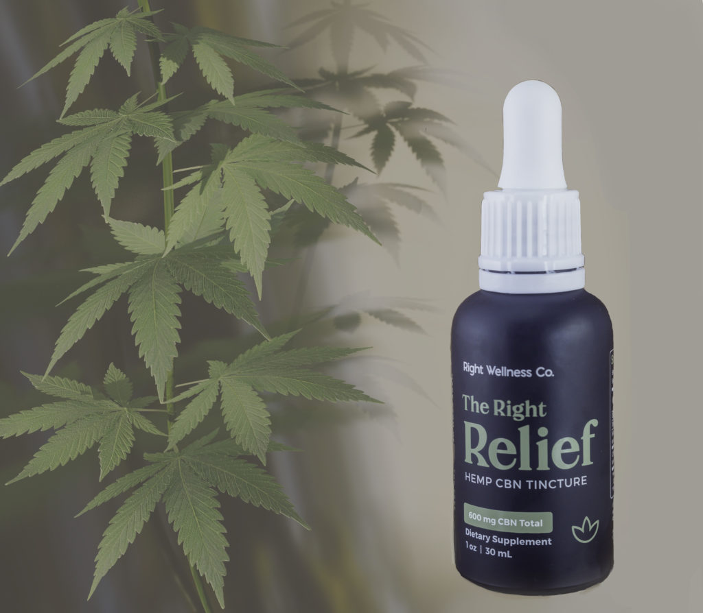 Right Relief Hemp CBN Tincture by Right Wellness Co offers the benefits of CBN in a third-party lab-tested, easy-to-absorb, effective formulation