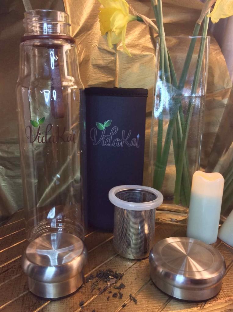VidaKai Tea Infuser Bottle Components