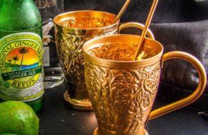 Kamojo Moscow Mule Copper Mugs Gift Set