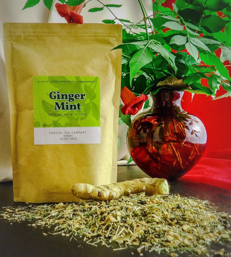 Coastal Tea Company Ginger Mint Green Tea