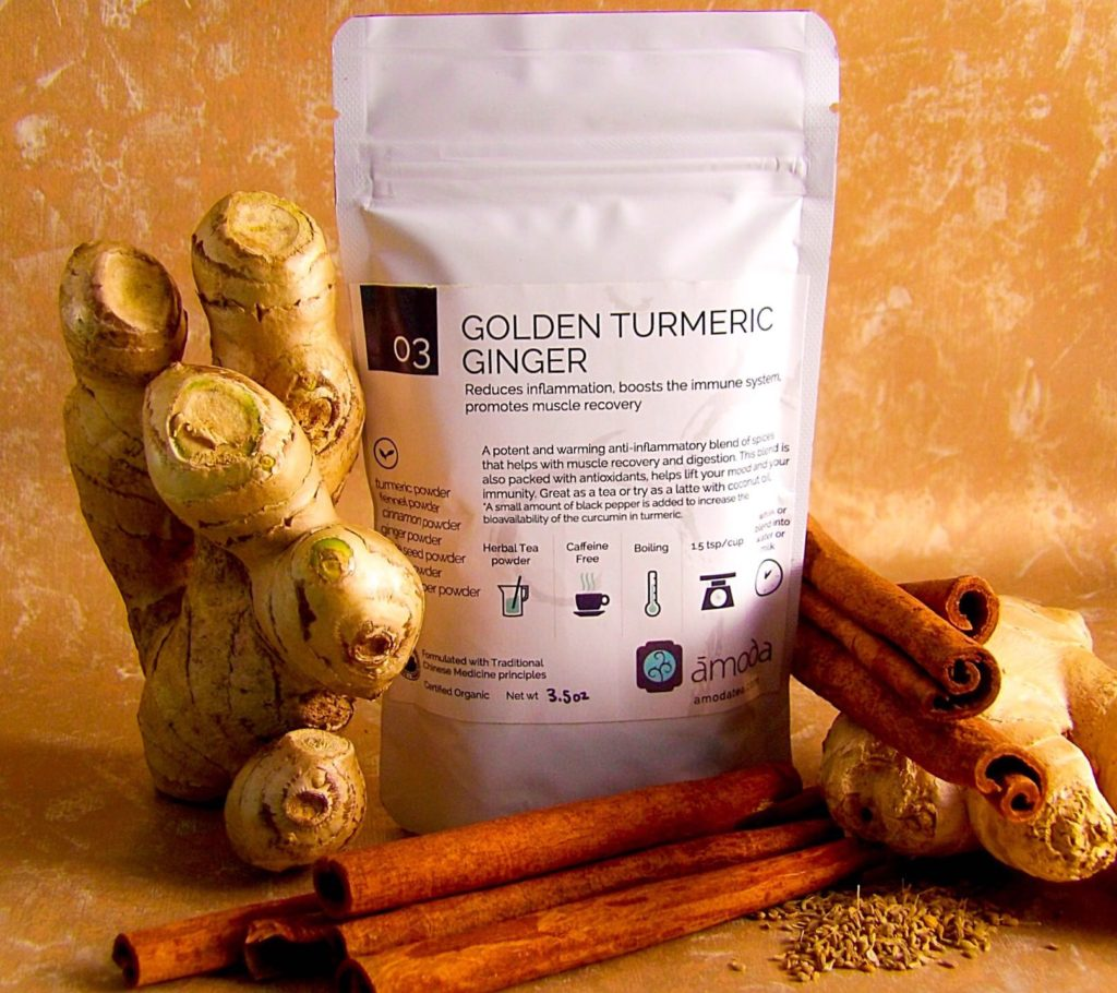 Amoda Organic Golden Turmeric Ginger Herbal Tea